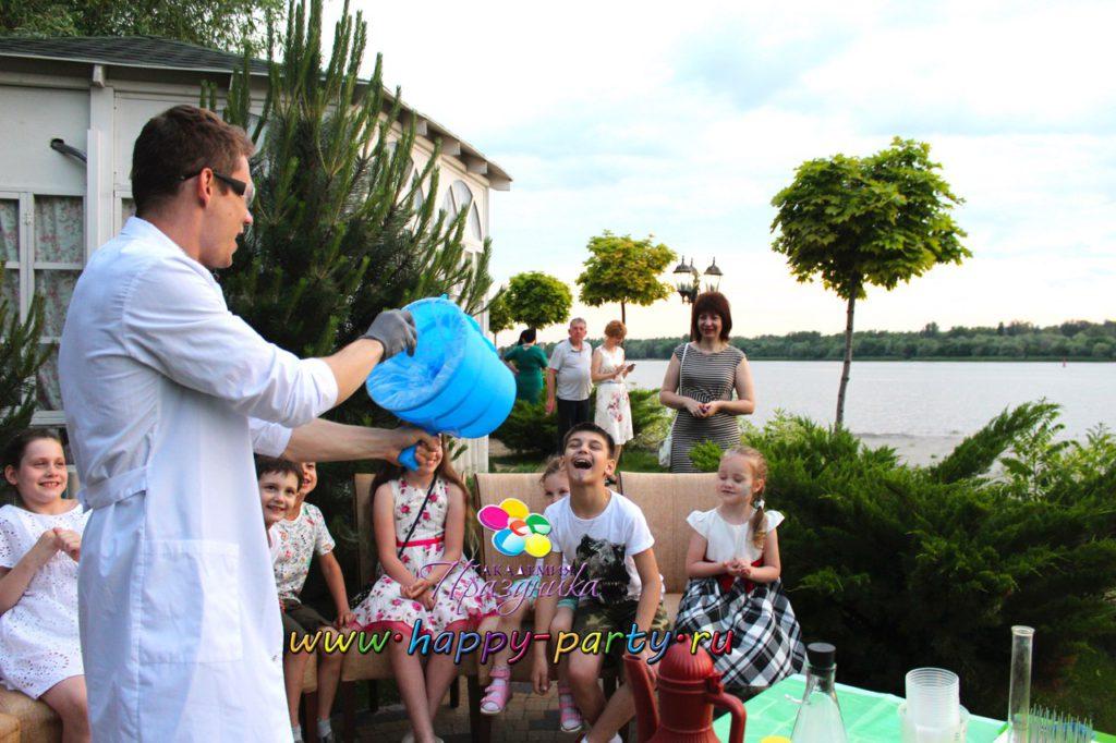 химическое шоу для детей шоу на праздник Академия Праздника