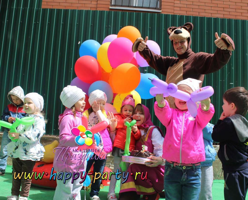 Аниматоры в ростове Маша и Медведь детский праздник день рождения ребенку Академия Праздника Ростов