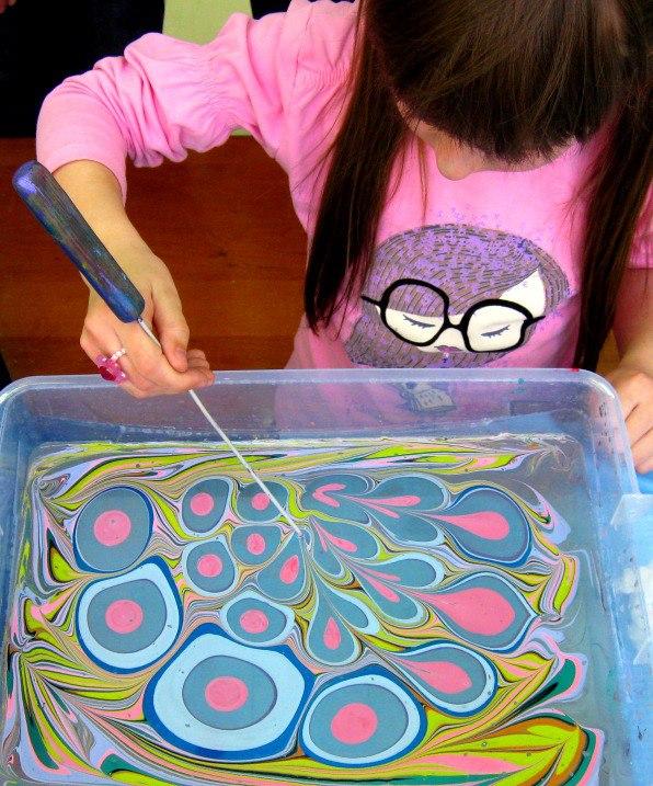 Рисовать по воде красками в домашних условиях 308
