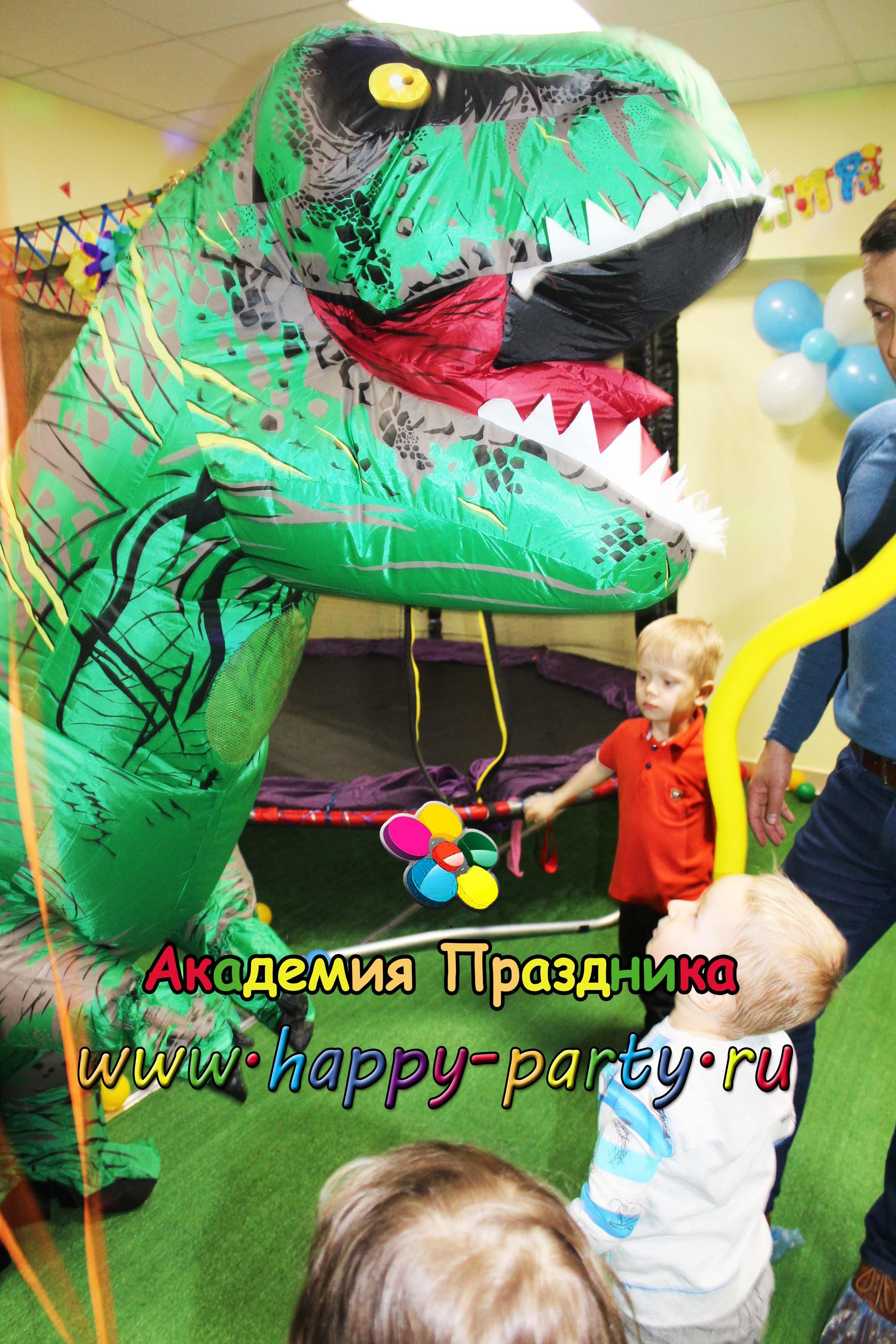 динозавр на праздник ростов дино-вечеринка