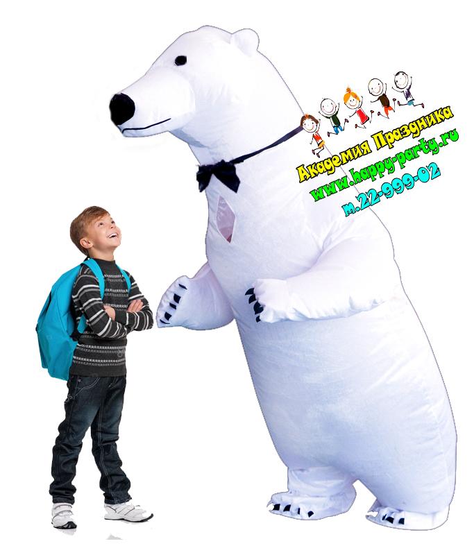 белый медведь на детский праздник ростовые куклы в ростове