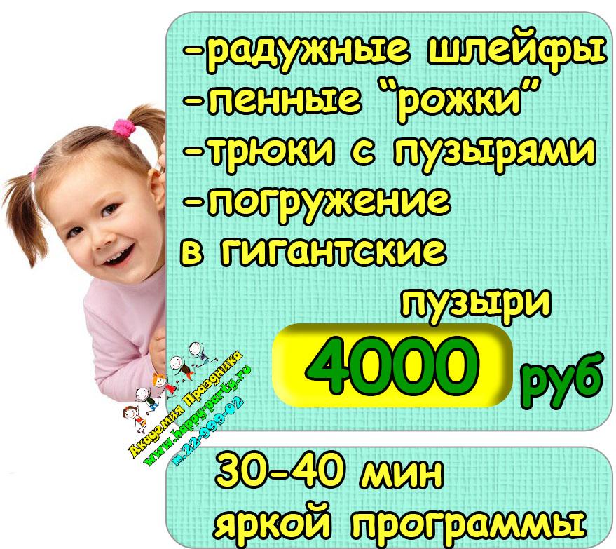 цена шоу пузырей в Ростове-на-Дону